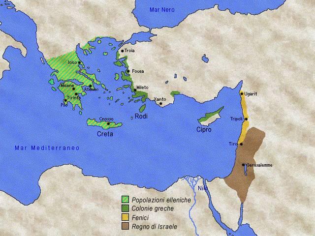 Mediterraneo Cartina.3000 800 A C Le Civilta Del Mediterraneo