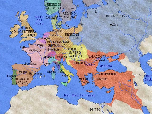 Cartina Europa 1800.L Europa Dopo Il Congresso Di Vienna 1815