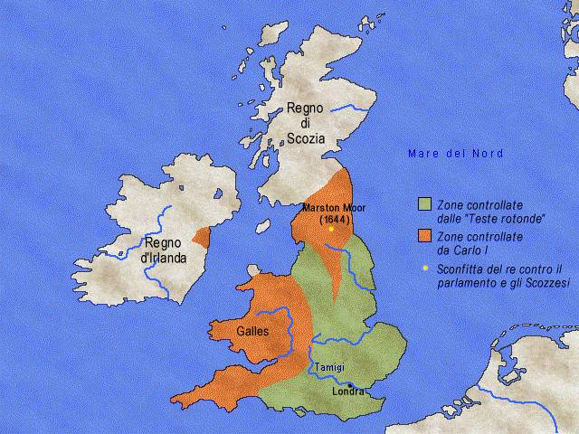 Inghilterra durante la guerra civile - 1642-1649