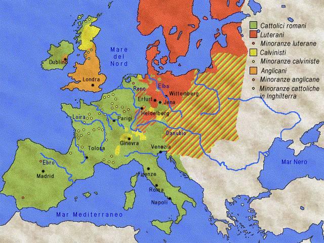 Cartina 1500.La Chiesa Anglicana Prima Meta Del 1500