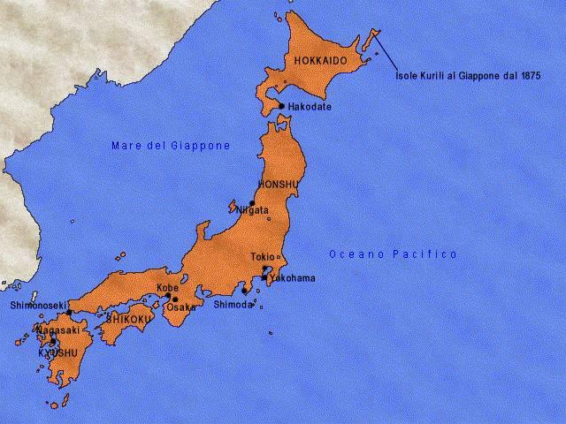 Unificazione del territorio giapponese - metà xix secolo