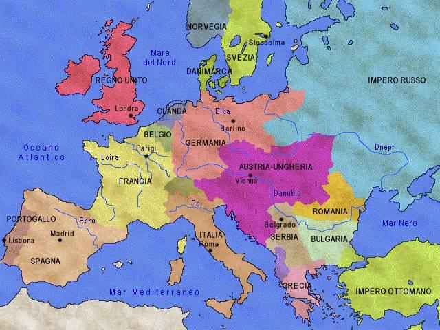 Cartina Europa 1800.Www Cartina Muta Capitali Europee