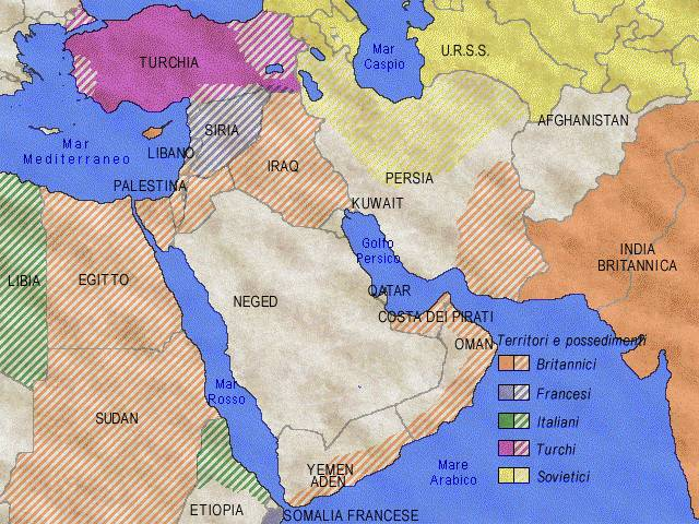 Medio Oriente Mappa Gratuita Mappa
