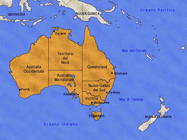 Australia E Nuova Zelanda Cartina.Xviii Xx Sec Australia E Nuova Zelanda