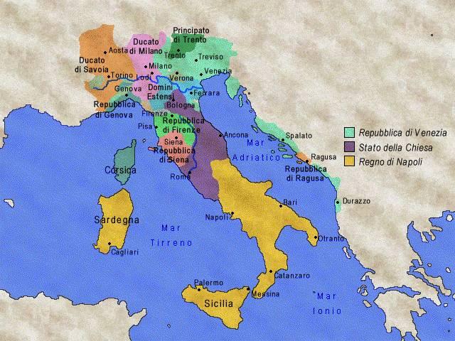 Cartina Italia Nel 400.Xiii Xv Sec L Italia Tra Medioevo E Rinascimento